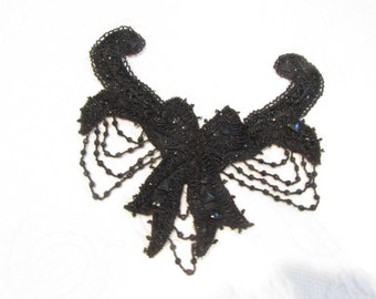 victorian black beaded accessory for a dress