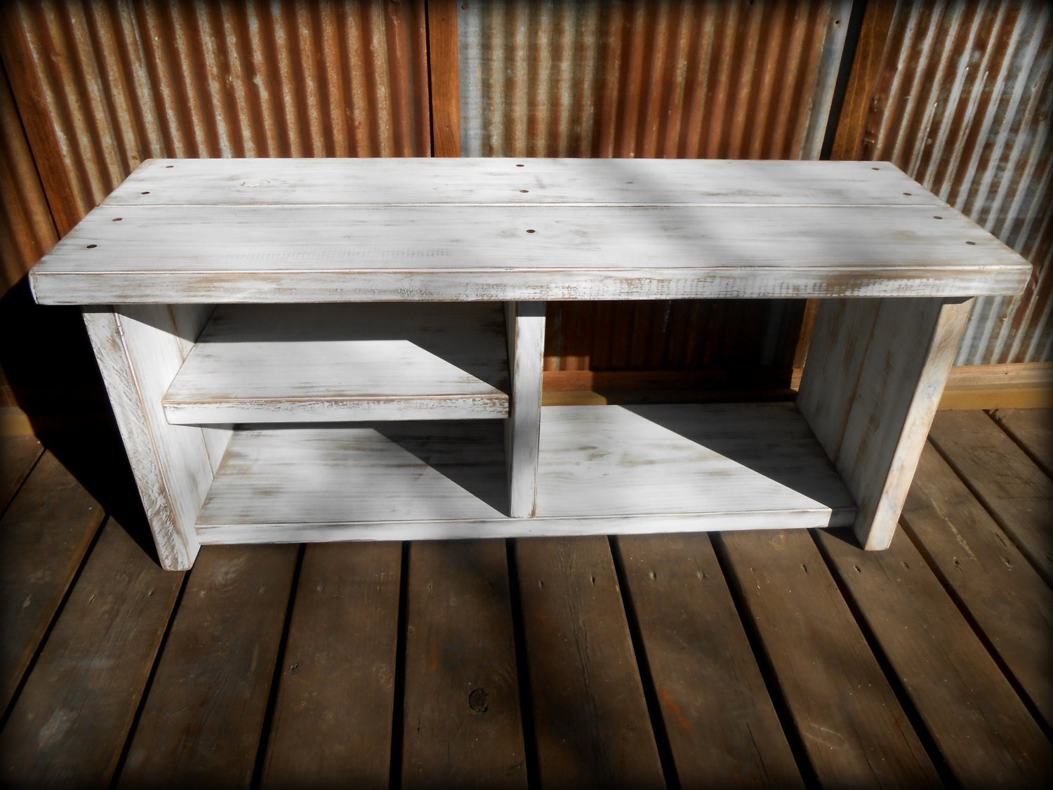 42 White Shoe Rack Bench With Boot Cubby