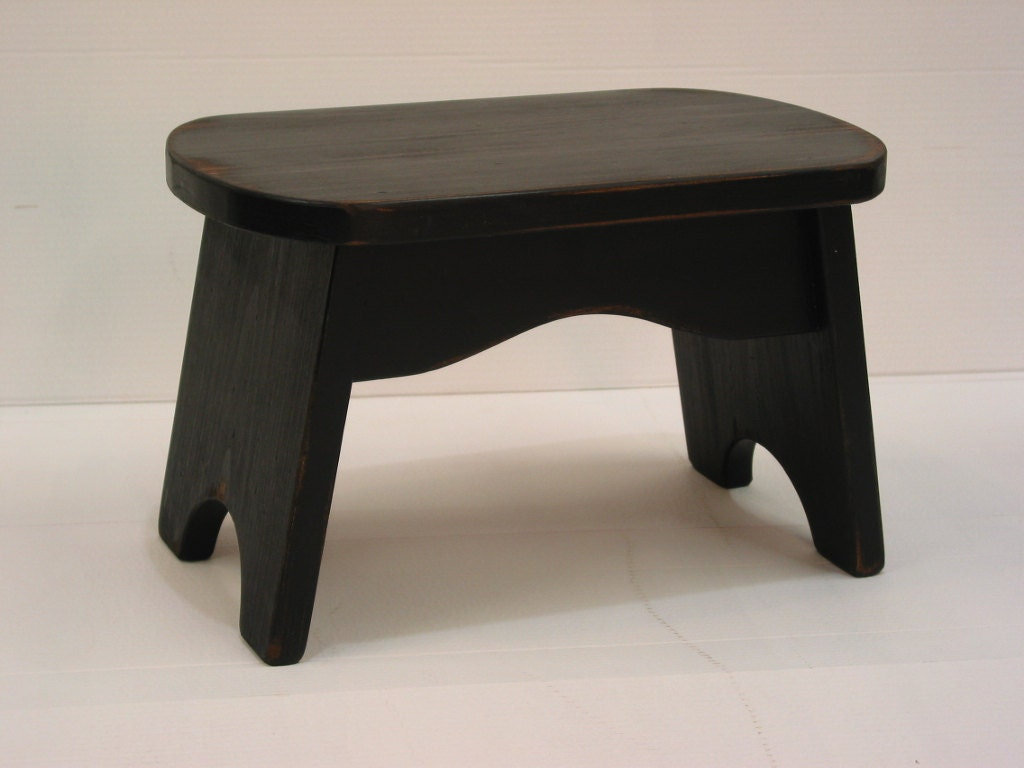 Black Step Stool Wooden Stool Kids Bench