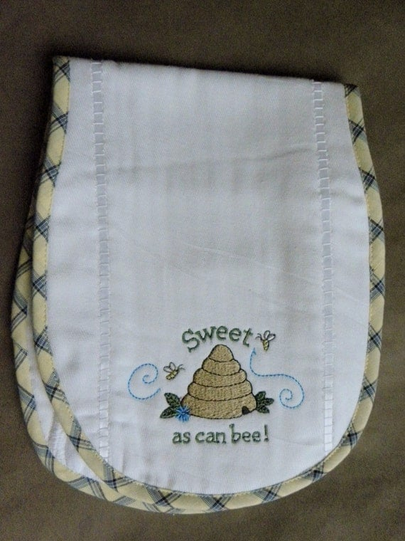 Items similar to machine embroidered diaper burp cloth