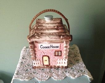 Vintage Cookie House Biscuit/Cookie Jar