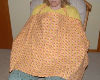 Nursing Cover Pink and Orange Circles