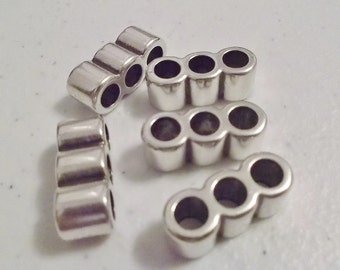 4 Smooth 4.5mm TRIPLE Barrel Seperators for Round Leather