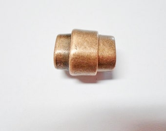 1 Copper Bullet Magnetic Clasp Regaliz Licorice Leather Finding,