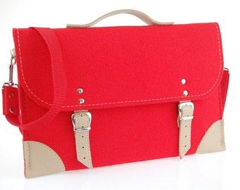 Felt Laptop bag 15 inch with pocket, sleeve, Macbook Pro 15 inch, Laptop case with belt shoulder