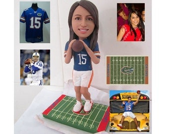 rugby american football - personalized custom figurine 100% handmade (Free Shipping Worldwide)