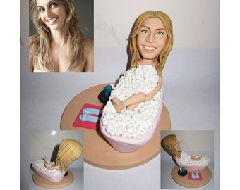 bath girl - personalized custom figurine 100% handmade (Free Shipping Worldwide)
