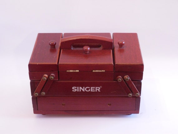25 Off Sale Vintage Singer Sewing Notions Craft Box Caddy