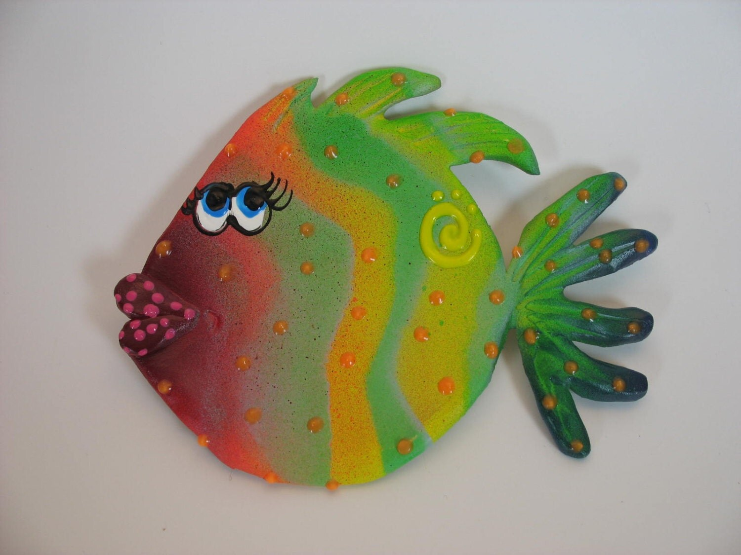 Whimsical wall hanging blowfish underwater fish room decor for Whimsical decor