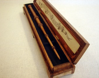 Elder inspired magic wand with custom display box wand for Elder wand display