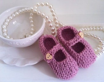Knitted Mary Janes shoes