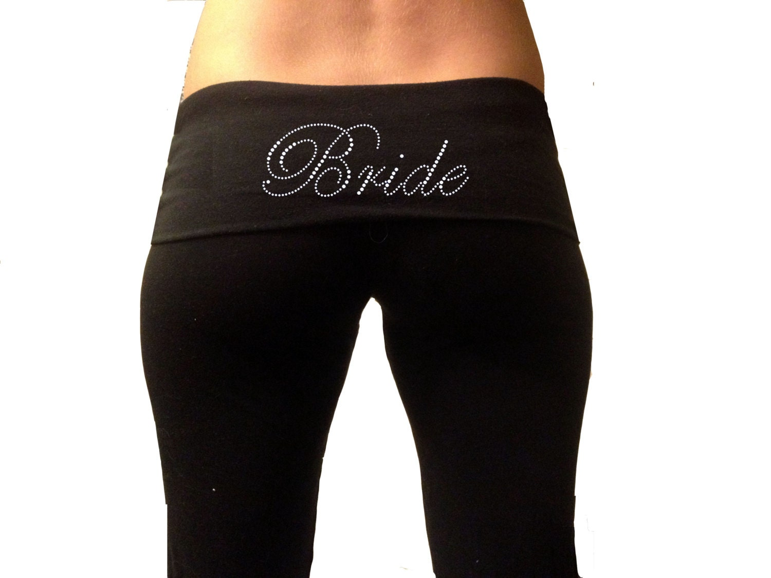 Bride Yoga Pants . Bride Pants . High Quality Women's Yoga