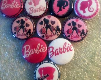 Barbie Flatbacks, crafts, bottlecaps, scrapbooking cabachons