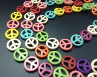 50  pcs muti colors   peace sign   for jewelry making DIY(C1050-1)