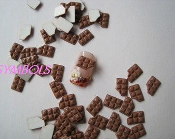 rc-72-1 30pcs Chocolate Nail Art Decoration Cellphone Decoration