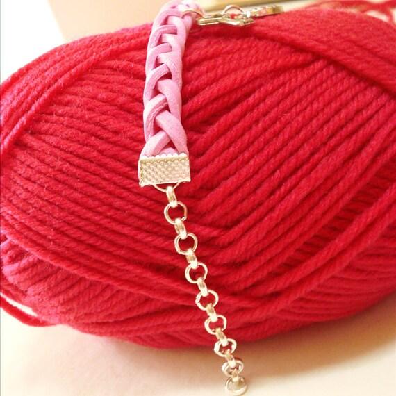 Coll. Happy Valentine - Valentine Braccialetto in Moosgummi e ciondoli Chiave Cuore - Creato a mano
