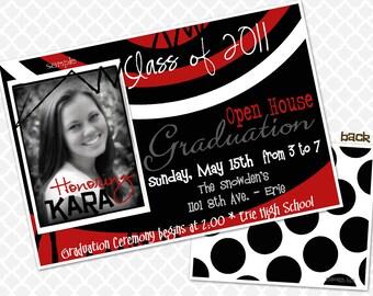 Swirl Graduation Party Invite Graduation Open House Invitation High School Graduation