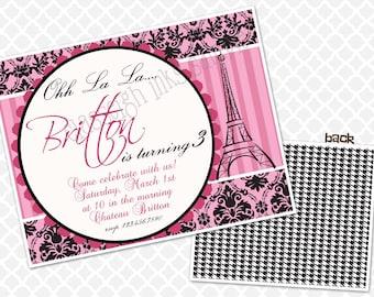Oui oui A Paris Birthday Invitation Birthday Party Invite