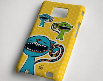 Cat (yellow and blue) - Samsung Galaxy S2 Case - Samsung Galaxy S2 Cover - Plastic Samsung Galaxy S2 Case