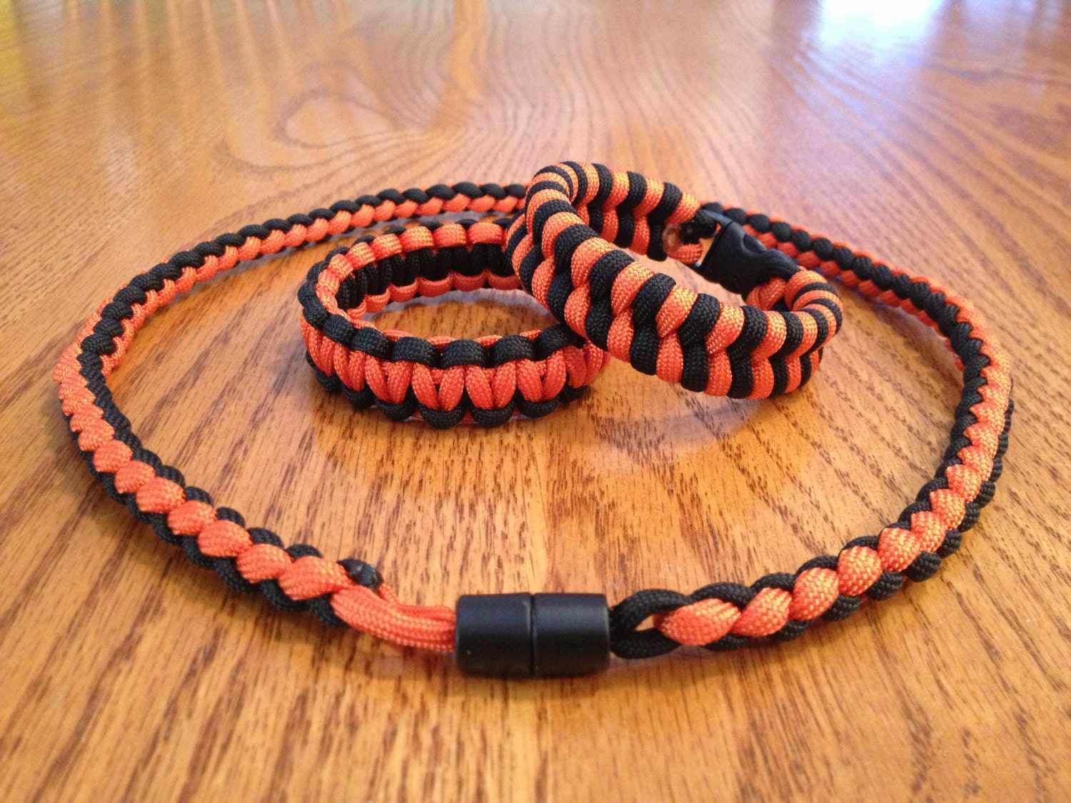 4 strand paracord necklace paracord bracelet combo by