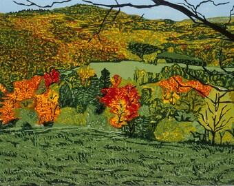 Tapestry  Woodblock print