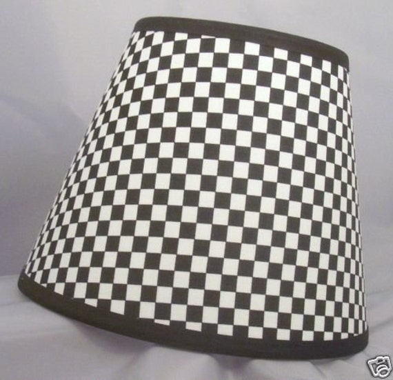 Items similar to Racing Checkered Flag Lamp Shade (10 Sizes to ...