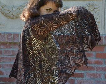 Kamile: Knit Shawl Pattern, pdf download