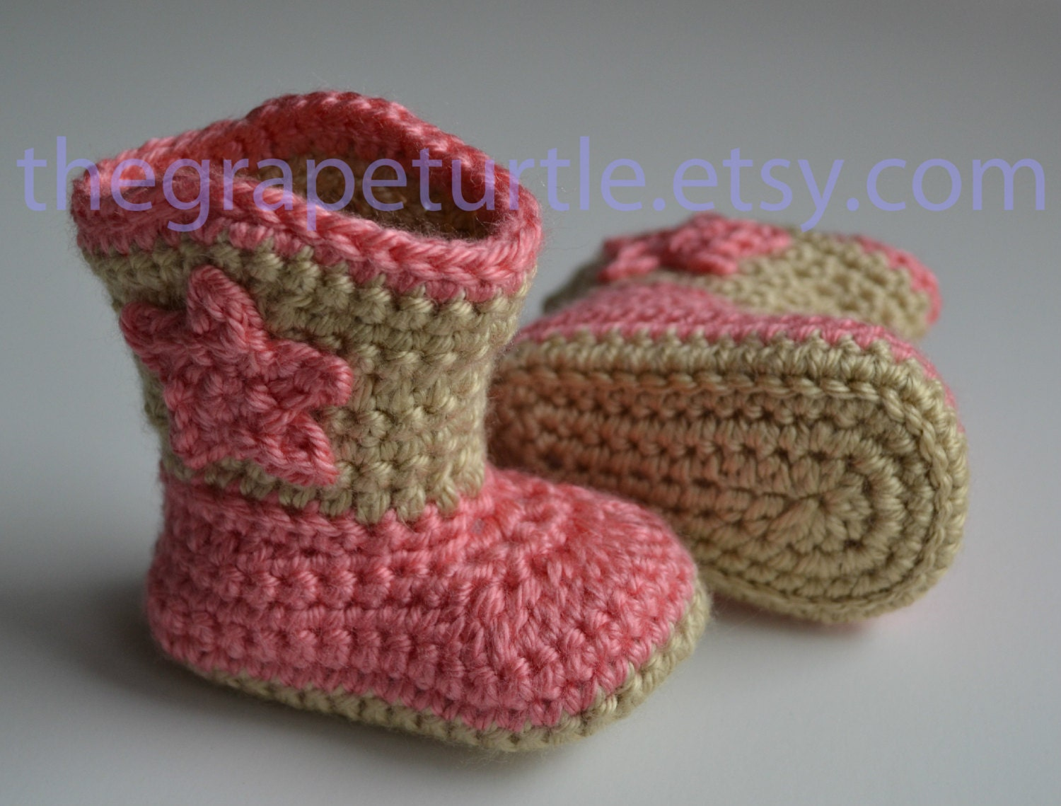 Free Crochet Patterns For Baby Girl Bonnets : Crochet Baby Cowboy Boots MADE TO ORDER You Choose Color