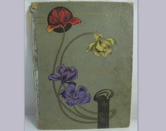 Original ART NOUVEAU. Cover of a photo album, a binder or similar. Vintage