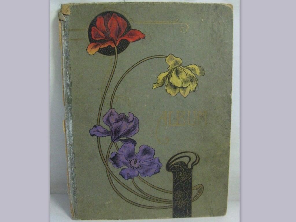 Original ART NOUVEAU. Cover Of A Photo Album A Binder Or