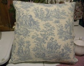 Blue French Toile Lg