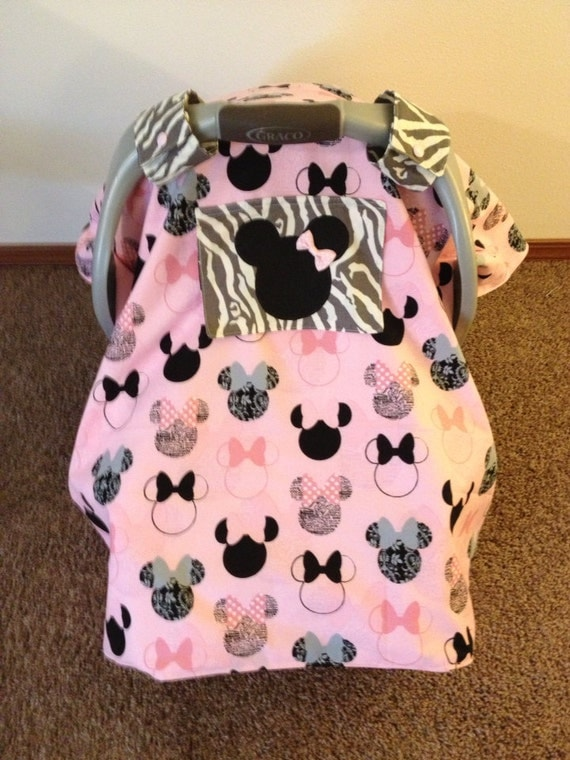 items similar to minnie mouse car seat canopy on etsy. Black Bedroom Furniture Sets. Home Design Ideas