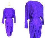 Vintage Purple Drop Waist Dress