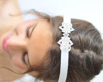 Wedding Rrhinestone Headband Elastic Bridal Headband Bridal Headband Crystal,bridal hair piece,Swarovski bridal headbands,wedding headpieces