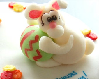 Easter Bunny Icing - cake topper