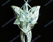 Evenstar necklace swarovski crystal ---925sterling-inlay 6pcs crystal version