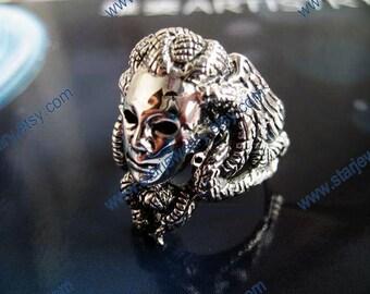 Steampunk snake ring Snake hair witch Medusa ring---925sterling ring