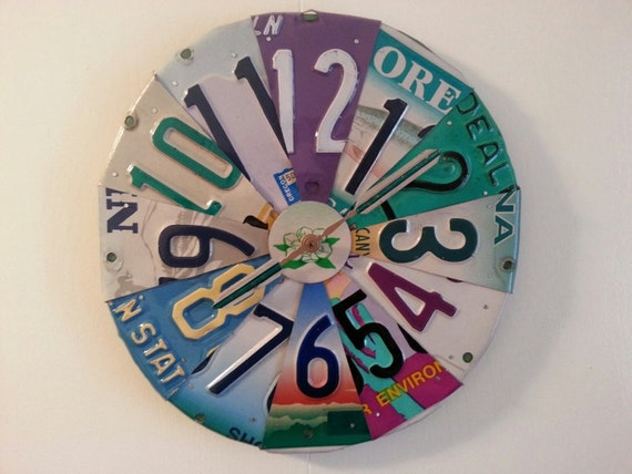 Etsy Recycled Clock