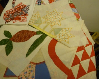 Reduced price 4 one of a kind quilt blocks