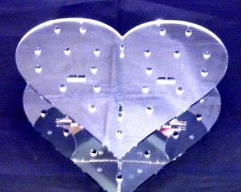 Heart Shaped Mirror Acrylic Cake Pop Stand - 32 Holes