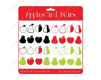 Digital Scrapbook Designs Apples and Pears Instant Download