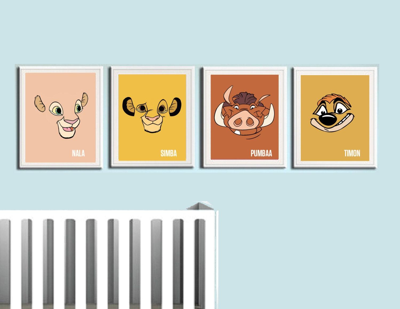 lion king nursery art prints kids wall art by coliseumgraphics. Black Bedroom Furniture Sets. Home Design Ideas