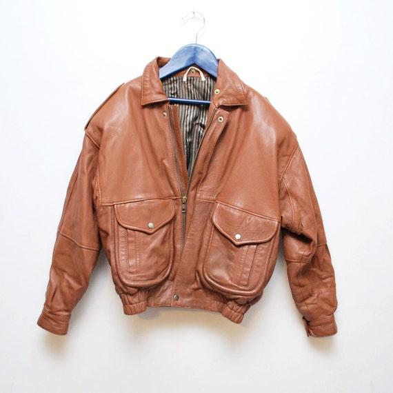 Kids brown leather jacket