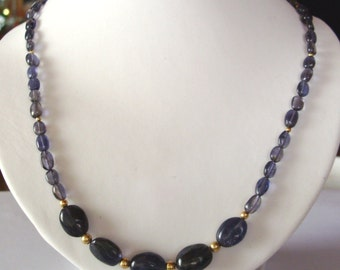 Iolite Necklace  - Iolithkette - Iolith Kette