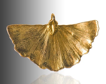 """Medium Gold Ginko Leaf  1.25"""" * 1.75"""""""