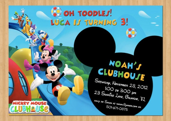 Items similar to Mickey Mouse Birthday Invitation - Printable Birthday ...
