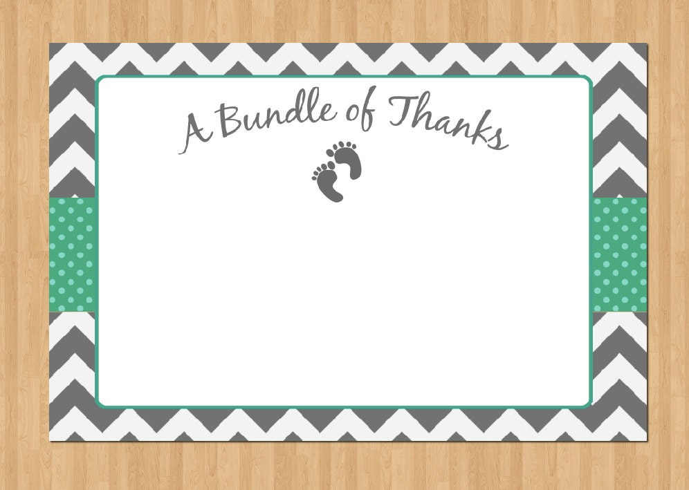It's just an image of Stupendous Printable Baby Shower Thank You Cards