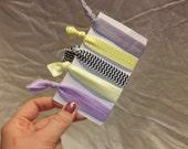 Fold-over elastic ponytail holders - Set of 5