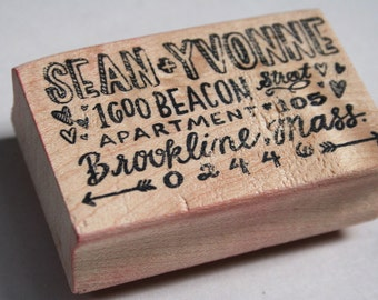 Whimsical Hand Drawn Address Stamp