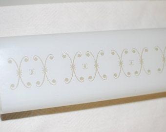 NOS 60s bathroom bar scroll shade
